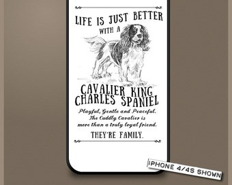 Cavalier King Charles Spaniel dog phone case cover iPhone Samsung ~ Can be Personalised