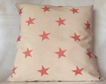 Bio cotton Cushion cover red stars