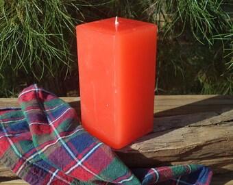 Thanksgiving, Autumn candle,Pillar candle 3x6, Autumn Orange Pillar Candle, scented candle,bathroom decor,Easter decor