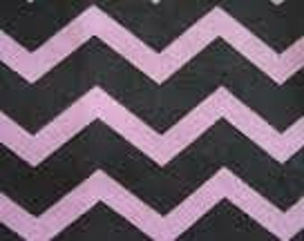 Purple Chevron Flannel Fabric - Flannel by the Yard - Purple and Black Fabriic - Flannel Material Fabric - Chevron Purple Cotton Fabric