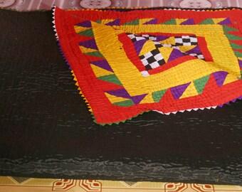 Hand Made Sindhi Ralli Quilt Bed Sheet 61 x 85 inch