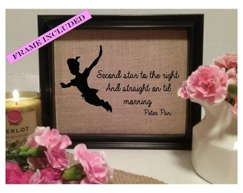 Second star to the right and straight on til morning Peter Pan, Peter Pan Quote, Peter Pan Birthday, Peter Pan Nursery, Peter Pan Birthday