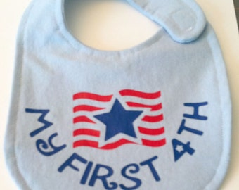 First 4th of July, Baby's First Year, Patriotic Fourth SVG Cut File, Vinyl Cutting File, Bib, TShirt Design for digital cutting machines