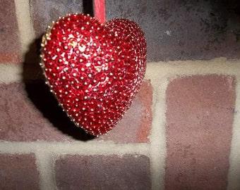 Hanging Sequin Heart