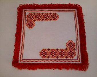 Napkin. Embroidery cross. Traditional Ukrainian Art
