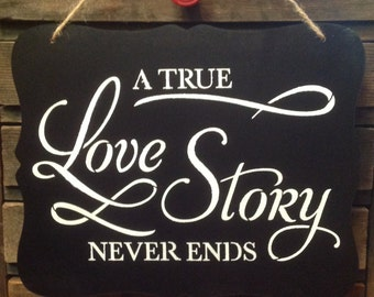 A true Love Story sign