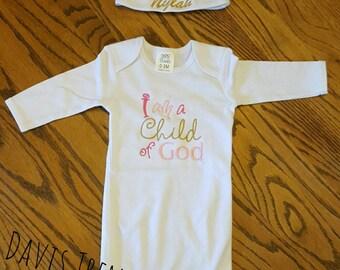 I am s child of God,  child of God gown, God,  Christian