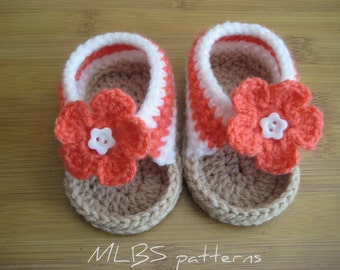 Baby sandals crochet pattern Photo Tutorial US terminology Instant Download Nr.34