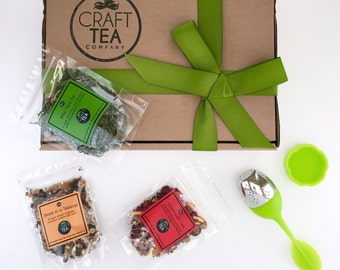 Craft Tea Starter Box, tea sample box, tea gift, gift for tea lovers, tea gift box