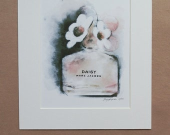 MARC JACOBS DAISY Gold Limited edition watercolour print by Faye Jepson