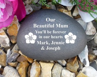 Personalised Pebble - Memorial - Weatherproof - Personalised  - Various Designs (SP2)