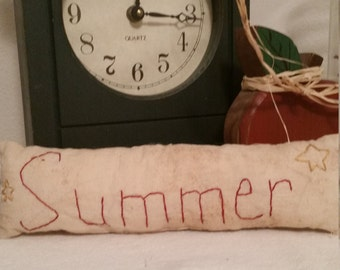 primitive Americana Summer pillow tuck, Summer shelf sitter, OFG, FAAP, primitive home decor bowl filler, primitive cupboard tuck,