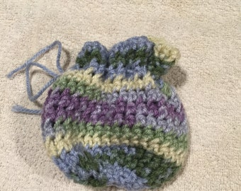 Hand crocheted pouch