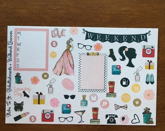 So Chic Build Your Own Kit Embellishment Weekend Banner Erin Condren ECLP Mambi Inkwell Press Filofax Kikki K Happy Life Stickers Posh