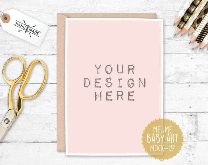 Card and Envelope Mockups, 5x7 Card Mockup, Styled Photography Mock Up, Gold Invitation Mockup (13.Card)