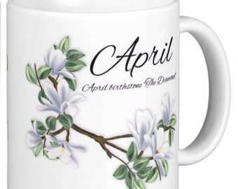Birthday Birthstone April Diamond Gift Mug