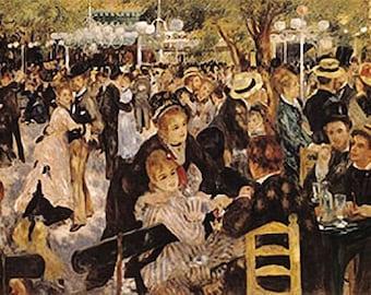 Pierre Auguste Renoir Ball at the Moulin de la Galette Art Print Poster 24x36 …