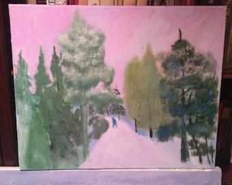Path Through Winter Woods