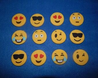 Fondant Emoji Cupcake Toppers (one dozen)