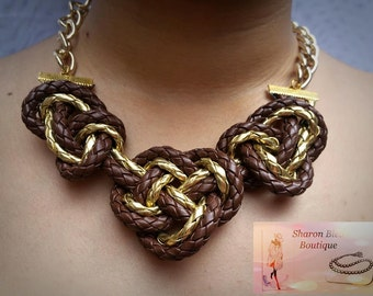 Vinyl with knot necklace