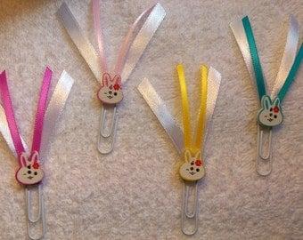 Spring Bunny Ribbon Paperclips - Planner/Journal/Bookmark - Erin Condren, Kikki K, Happy Planner