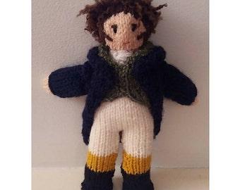 Mr. Darcy knitting pattern by Kwerky Knits