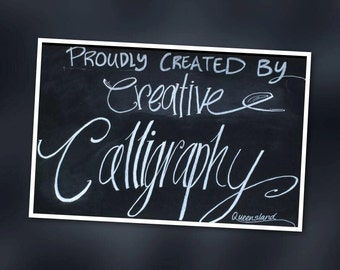 Calligraphy Services for Weddings and other special events