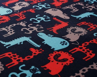 Zoo (red) - Jersey with animal print - 0, 5m