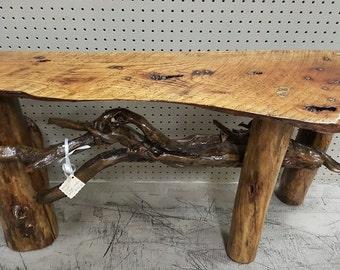 Custom 3 Legged Bench