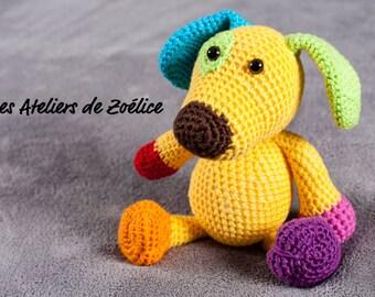 Educational and Foley crocheted stuffed: Hugo dog