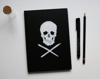 Skull Monoprint A5 Notebook