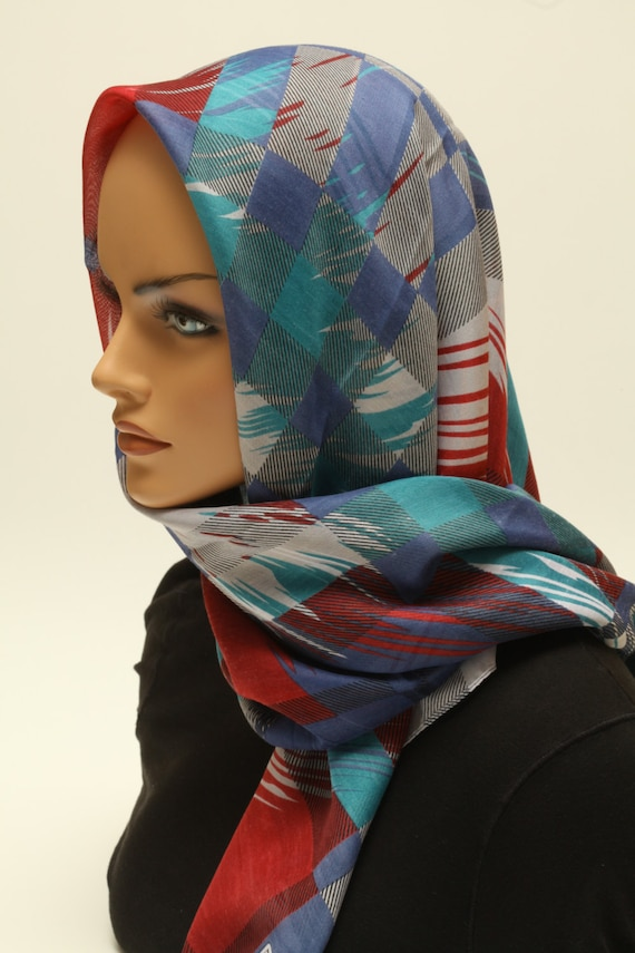 tichel soft comfortable navy scarf hair wrap hair