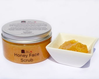 Honey Face Scrub, Natural Honey and Sugar Scrub. Gentle enough for all skin types.