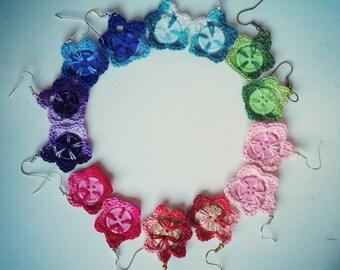 """Flower-shaped earrings """"Daisy"""""""