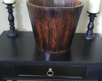 Burnt Oak Wine Bucket