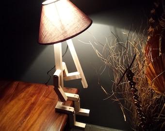 Stickman bedside lamp