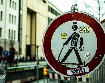 Pedestrian Street Art in Berlin