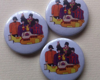 "Beatles ""Yellow Submarine"" Pinback Button"