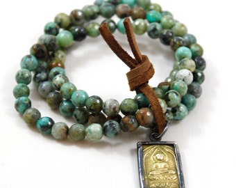 Beaded bracelet african turquoise