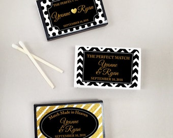 50 pcs Sparkly Patterns Personalized Matchboxes with Glitter Effect Stickers (MIC925462)