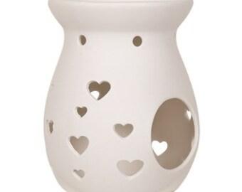 Ceramic Heart Cut Out Wax Melt Tart Burner