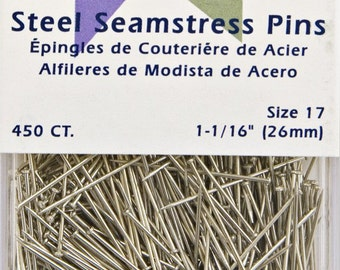 Steel Seamstress Pins Pack of 450