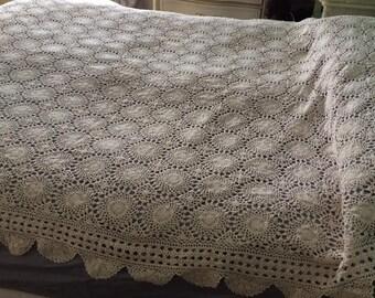 Vintage Crochet Bed Cover