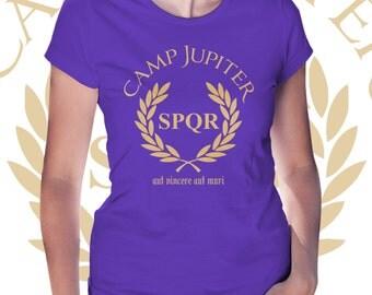 Camp Jupiter t shirt SPQR Percy Jackson and the Olympians Demigod women girl shirt