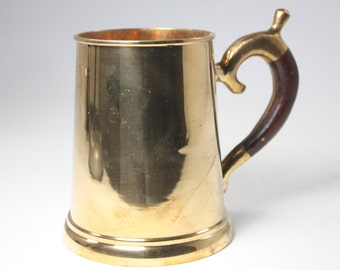 Brass Mug with Wood Handle Made in Thailand