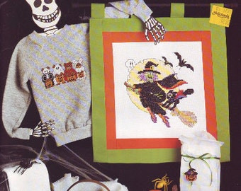 Halloween Designs Adorable Counted Cross Stitch From Leisure Arts 1988