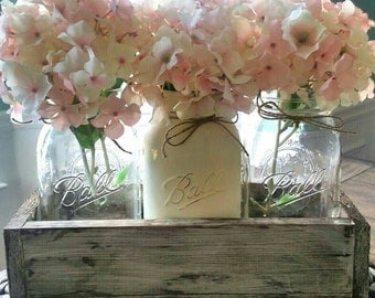 Mason jar wedding Centerpiece - mason jar table decor - Rustic Wedding Decor -  Wedding Centerpiece - rustic wedding centerpiece - wedding
