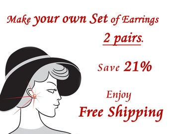 Stud Earrings Set of 2 pairs. Free Shipping. Teeny Tiny. Save 21%. Gift for her. Everyday Jewelry. Simple Jewellery.