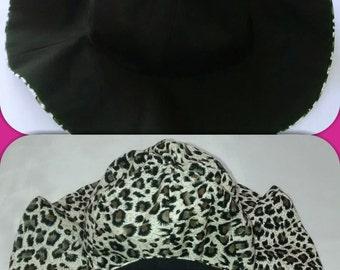 Girls Reversible Floppy Hat