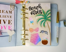 Beach Vibes Personal, A5 & Pocket Size Planner Dashboard